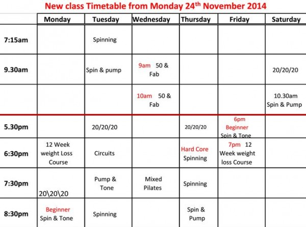 2014-11-12 New Timetable for the Loft