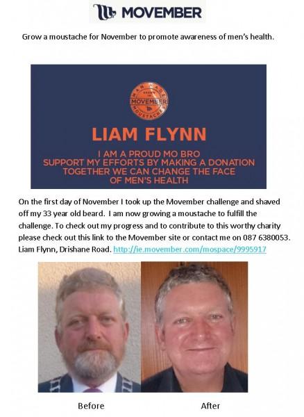 2014-11-18 Liam Flynn - movember poster