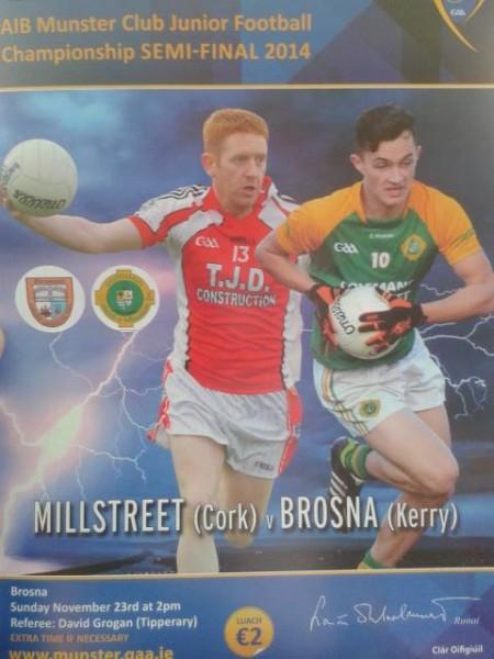 2014-11-23 Brosna v Millstreet - Match Programme