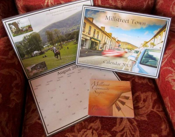 "It was Marie Twomey and Justin Black who very creatively coordinated the production of the Millstreet 2015 Calendar and Marie has also been wonderfully involved in the bringing to reality of the ""Together"" CD which features the Millstreet Community Singers.  Click on the image to enlarge.  (S.R.)"