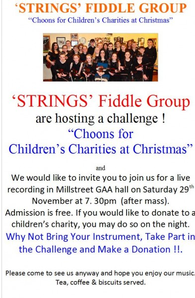 2014-11-25 Strings Fiddle Group - Choons for Childrens charities - poster