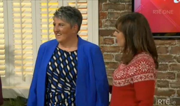 2014-11-28 Mary Buckley on the Today Show - RTE ONE 07