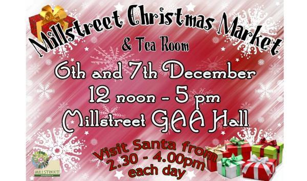 2014-12-06 Millstreet Christmas Market and tea room - poster