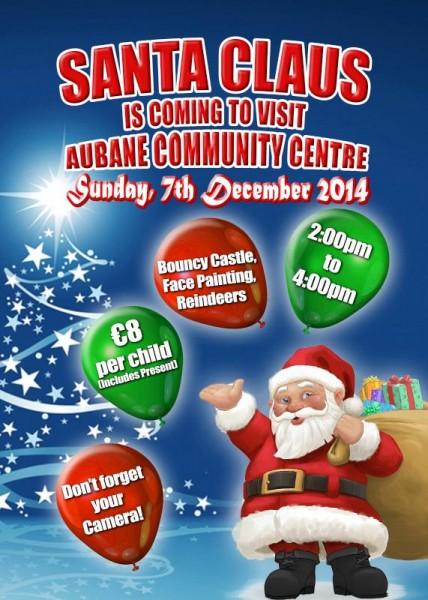 2014-12-07 Santa in Aubane - poster