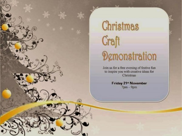 Christmas craft Demo poster 2014-800