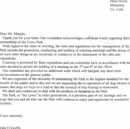 Letter Matt Murphy