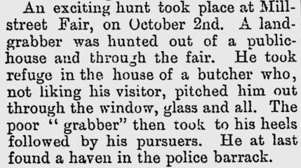 1885-10-22 from The Irish Canadian, An exciting hunt at Millstreet Fair