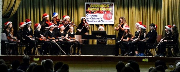 2014-11-29 Choons for Children's Charities at Christmas - on stage in the GAA Hall