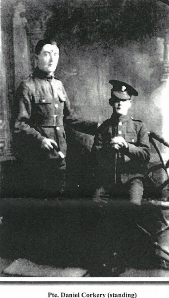 2014-12-07 Pte Daniell Corkery - Standing - probably with probably his friend, Lance-Corporal Patrick Condon