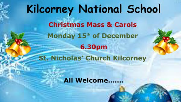2014-12-15 Kilcorney NS mass and carols - poster