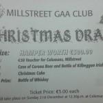 2014-12-21 Millstreet GAA Club Christmas Draw - ticket