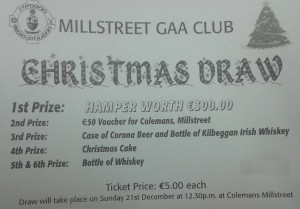 2014-12-21 Millstreet GAA Club Christmas Draw - ticket