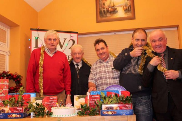 "Some of the dedicated LTV2 Millstreet Team preparing for Programme 243 - Our Christmas Special - pictured here in Studio - From Left: Jerry, Brendan, William, Bernard and Seán.  Thanks to Bernard our programmes is scheduled to be available online on the Millstreet Website by Christmas.  The recent official opening of the renovated Cullen Community Centre where we meet ""the Magnificent Seven"" will feature on this programme.  A very Happy Christmas to our many loyal viewers across the globe.  Click on the image to enlarge.  (S.R.)"