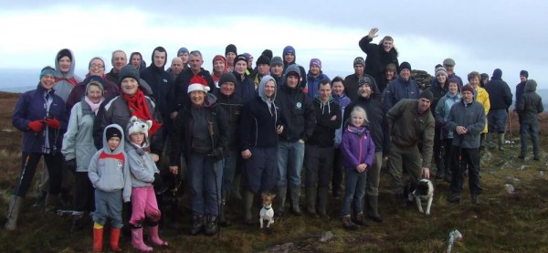 2014-12-25 Mushera Christmas Day Climb 05 - Some of the group at the top