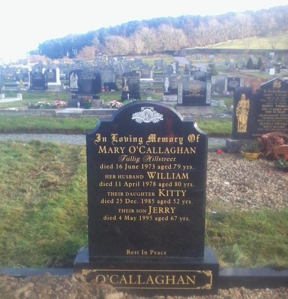 The Final resting place of Julia O'Callaghan