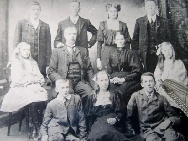 2015-03-29 The McKennas of #millstreet at turn of the century.2nd from left,back row,is Owen,father of actress Siobhan McKenn