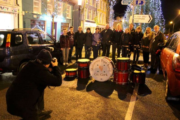 6Millstreet Pipe Band welcomes 2015 -800