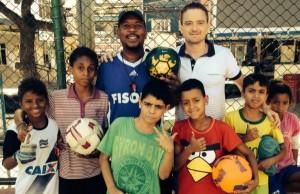 Conor Hartnett in the favela in Rio