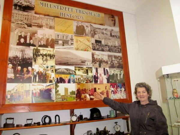 Mary O'Mahony, Coordinator supreme of Millstreet Actively Retired Association (M.A.R.A.) visited Millstreet Museum on Thursday to explore the possibility of an historical presentation for the Association in February 2015.  Click on the images to enlarge.  (S.R.)