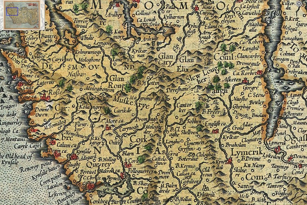 Map Showing Europe%0A      Mercator and Hondius Map of Munster