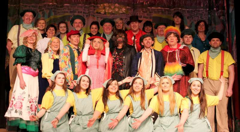 17Preparing for Rathmore Pantomime Jan. 2015