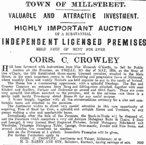 1916-05-13 High Price for Licensed Premises 02