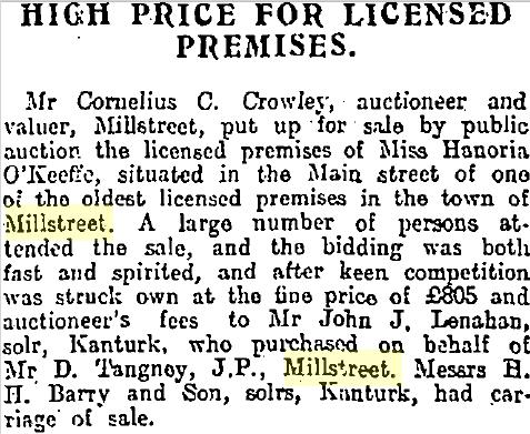 1916-05-13 High Price for Licensed Premises