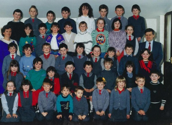 1988 Students and Teachers at Cloghoula National School