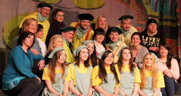 1Preparing for Rathmore Pantomime Jan. 2015
