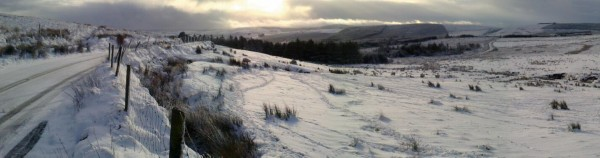 2015-01-13 Snow on Mushera this morning - traditionally the coldest day of the year - Hillary's Day - photo by Donal Cashman