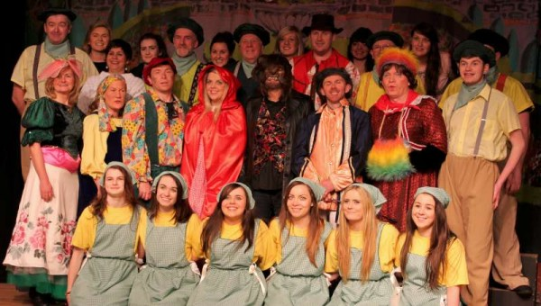 20Preparing for Rathmore Pantomime Jan. 2015