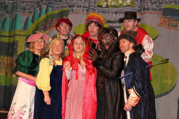 24Preparing for Rathmore Pantomime Jan. 2015