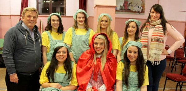 27Preparing for Rathmore Pantomime Jan. 2015