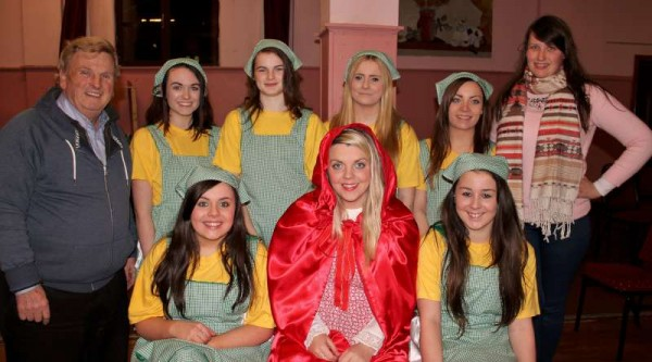 28Preparing for Rathmore Pantomime Jan. 2015