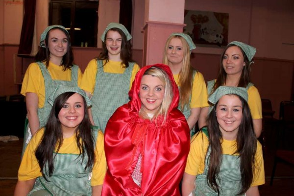 29Preparing for Rathmore Pantomime Jan. 2015