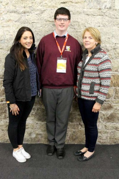 Niall Murphy with his mum Sheila and sister Joanne.
