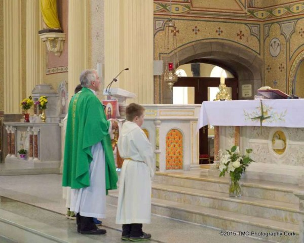 2015-02-01 St.Briget's Day - by Tom Corbett - Canon John Fitzgerald at the altar