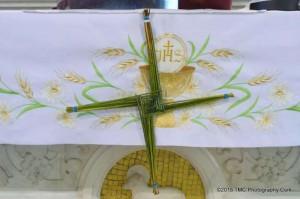 2015-02-01 St.Briget's Day - by Tom Corbett - cross on the altar