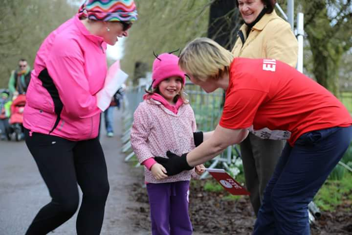 2015-02-21 At Operation Transformation in Blarney 03 - Isabelle meets Eilish