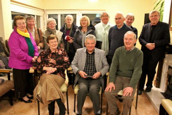 Joe Kennelly (seated centre) of Inniscarra  and Millstreet pictured with just some of the capacity audience attending Friday night's Millstreet Gramophone Circle presentation.   In his splendid programme of music and song, Joe shared some wonderful gems and evoked treasured memories of the Millstreet of the 1950s and '60s.  Next presentation in Boherbue is on Thursday, 5th March being given by Maura Sheehan (pictured at back 3rd from left) and  Millstreet will have Peter O'Regan of Kilmurry presenting on Friday, 20th March.   Click on the images to enlarge.  (S.R.)