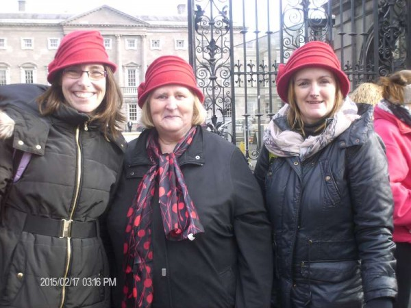 3Rathcoole Playschool Staff at Dublin Rally 17 Feb. 2015  -800
