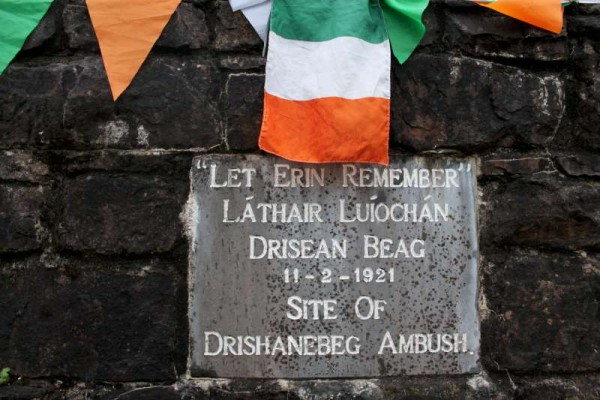 We thank Jerry Lehane for alerting us to the fact that 11th February was the anniversary of the 1921 Drishanebeg Ambush and that this was maked at the memorial plaque near Keale Railway Arch on the Mallow Road. Click on the images to enlarge. (S.R.)