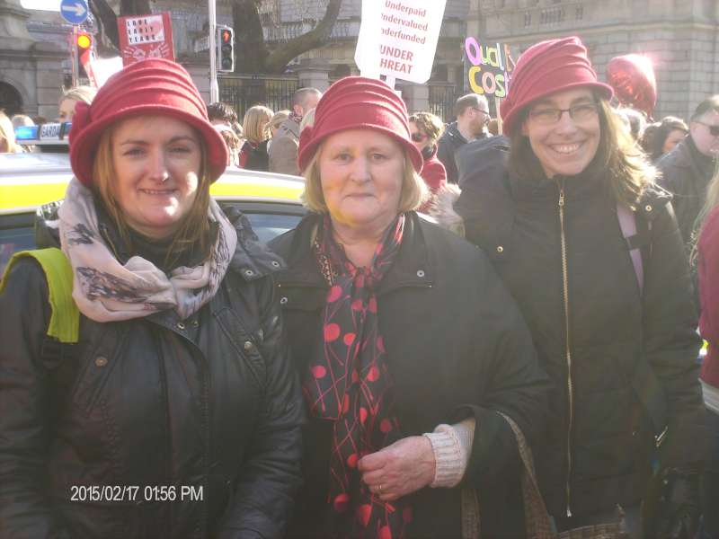 6Rathcoole Playschool Staff at Dublin Rally 17 Feb. 2015  -800