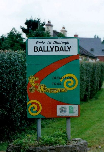 Thanks to Photographer supreme, Geraldine Dennehy - we've been alerted to an uplifting sign change in Ballydaly...from the above to below!  Click on the images to enlarge.  (S.R.)