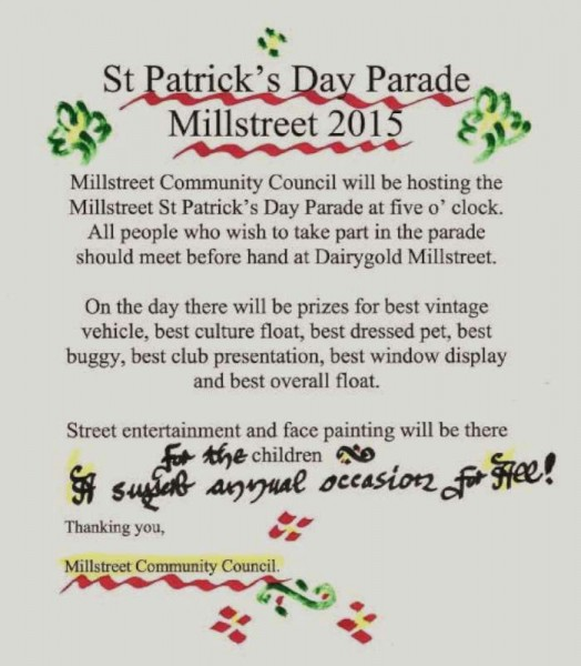 We thank Millstreet Community Council for this notice and we congratulate the Comm. Council for superbly organising this important annual event.  Click on the image to enlarge.  (S.R.)