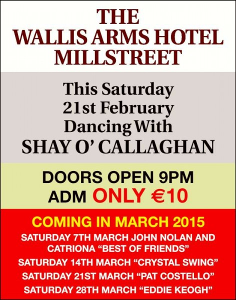 We thank Billy for the Entertainment Guide relating to the Wallis Arms Hotel.  Click on the image to enlarge.  (S.R.)