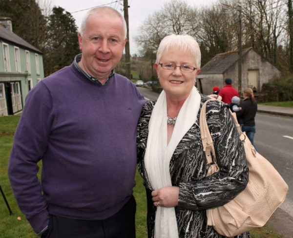 "Jerry & Mary McCarthy pictured at St. Patrick's Parade on 15th March 2015 in Carriganima.  Musician supreme, Jerry will be appearing with ""Autumn Gold"" at The Pub in Carriganima on Easter Sunday.  Click on the images to enlarge.  (S.R.)"