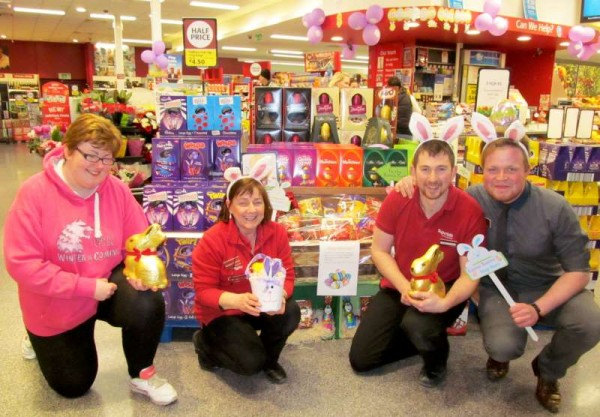 Pictured at O'Keeffe's Supervalu, Millstreet this evening preparing for Easter 2015!  Click on the images to enlarge.  (S.R.)