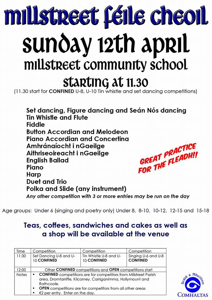 2014-04-12 Millstreet Féile Cheoil - poster