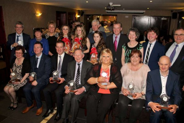 Recipients and Sponsors at Friday night's superb Millstreet Community Awards 2015 held in the Wallis Arms Hotel.   A full feature on the excellent later.  Click on the image to enlarge.  (S.R.)